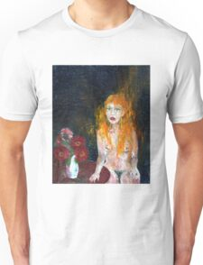 Woman And Flowers Unisex T-Shirt
