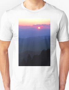 SMOKY MOUNTAIN SUNSET Unisex T-Shirt