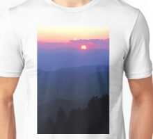 SMOKY MOUNTAIN SUNSET Unisex T-Shirt