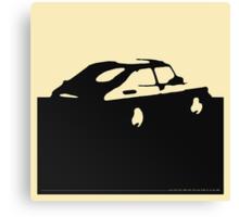Saab 900, 1990 - Black on cream Canvas Print