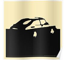 Saab 900, 1990 - Black on cream Poster