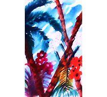 Blue Tropics, watercolor Photographic Print
