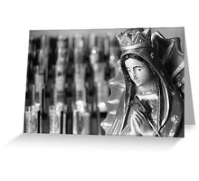 Prayer and Candles Greeting Card