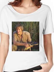 Austin Stevens with Alligator Women's Relaxed Fit T-Shirt