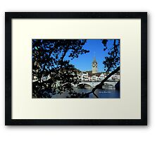 Reflections of Limmat Framed Print