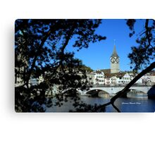 Reflections of Limmat Canvas Print