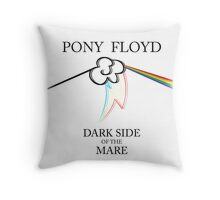 Floyd Pone - Dark Side of the Mare (WHITE / STICKER) Throw Pillow