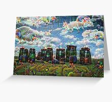 Stonehenge Machine Dreams Greeting Card