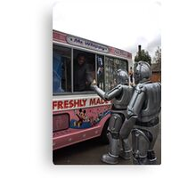 Cyberman buying an ice cream Canvas Print