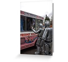 Cyberman buying an ice cream Greeting Card