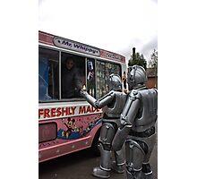 Cyberman buying an ice cream Photographic Print