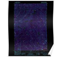 USGS Topo Map Washington State WA Beacon Rock 239964 1986 24000 Inverted Poster