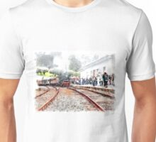 Vatican station with train with steam locomotive Unisex T-Shirt