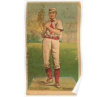 Benjamin K Edwards Collection Handsome Henry Boyle Indianapolis Hoosiers baseball card portrait Poster