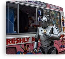 Cyberman with ice cream Canvas Print