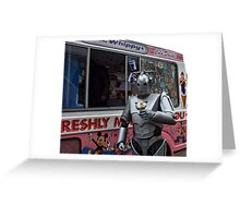 Cyberman with ice cream Greeting Card