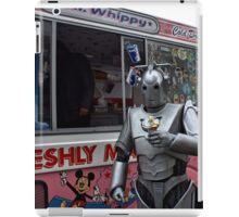 Cyberman with ice cream iPad Case/Skin