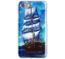 Old ship sailing iPhone Case/Skin