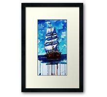 Old ship sailing Framed Print