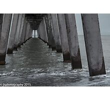 Off Center Under the Pier Photographic Print