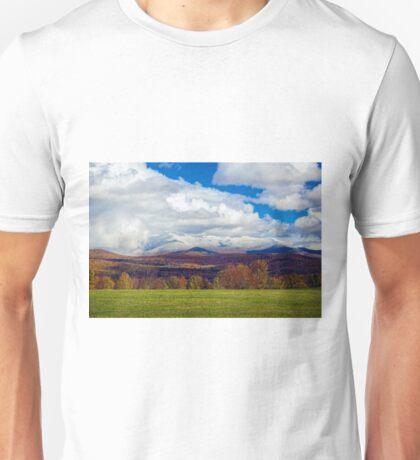 Snowcapped Mt. Mansfield Unisex T-Shirt