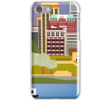 Memphis, Tennessee - Skyline Illustration by Loose Petals iPhone Case/Skin