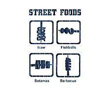 Pinoy Street Food Icons Photographic Print