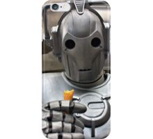 Cyberman with ice cream cone iPhone Case/Skin