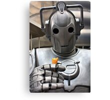 Cyberman with ice cream cone Canvas Print