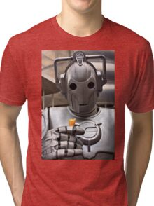 Cyberman with ice cream cone Tri-blend T-Shirt