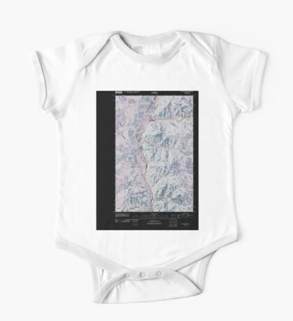 USGS Topo Map Washington State WA Louie Creek 20110413 TM Inverted One Piece - Short Sleeve