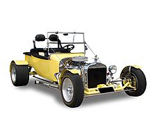 Ford - Yellow Bucket Rod Photographic Print