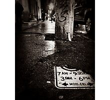 lonely streets Photographic Print
