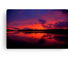 Sunrise Serenade - Narrabeen Lakes, Sydney Australia - The HDR Experience Canvas Print