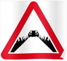 Back the the Future DeLorean Sign Poster