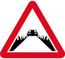 Back the the Future DeLorean Sign Photographic Print