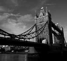 Tower Bridge In Black And White by DavidHornchurch