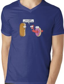 This is NOT what it looks like. Mens V-Neck T-Shirt