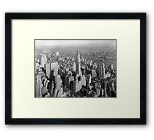 Vintage Midtown Manhattan Photograph Framed Print