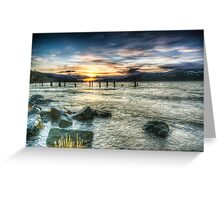 Sun going down over Loch Ness, wide angle version Greeting Card