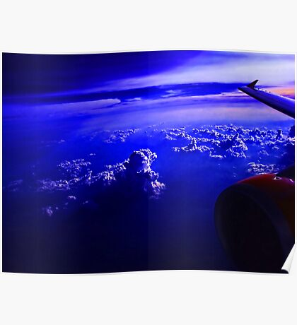 Blue Sky and Cloud After Sunset Poster