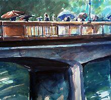 Old bridge on a rainy day by ZlatkoMusicArt