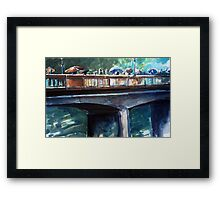 Old bridge on a rainy day Framed Print