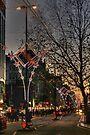 Christmas lights on Oxford Street, London by Jasna