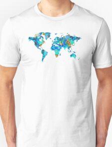World Map 22 Art by Sharon Cummings T-Shirt