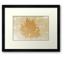 Abstract vintage background with silhouettes of tree and birds Framed Print