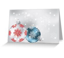 Neutral Christmas background with baubles, snowflakes and stars Greeting Card