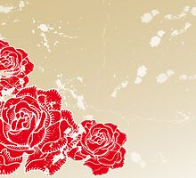 Old vintage background with roses by schtroumpf2510