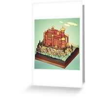 Low Poly Castle Greeting Card