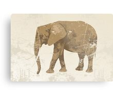 Vintage poster with elephant Metal Print